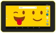 "eStar ESTAB7EMOJI Tablet 7"" Android 8 GB Fotocamera Wifi Giallo  Hero"