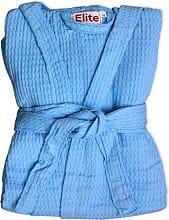 Elite Accappatoio Nido dApe 100% Cotone con Cappuccio Taglia L Azzurro - Ape