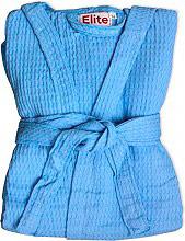 Elite Accappatoio Nido dApe 100% Cotone con Cappuccio Tg. XL Azzurro Cielo - Ape
