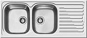ELLECI LIK500SACSX Lavello cucina Incasso 2 Vasche Gocciolatoio sx 116cm Acciaio