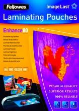 fellowes 5306114 Pouches plastificazione 80 micron A4 Lucida Conf. 100 fogli ImageLast
