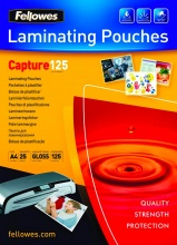 fellowes 5396301 Confezione 25 Capture125 Pouches Lucide A4