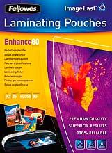 fellowes 5396403 Pouches plastificazione 80 micron A3 Lucida Conf. 25 fogli ImageLast