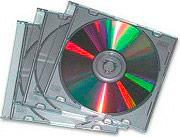 fellowes Custodia Rigida Slim CD fondo Silver Conf. 25 custodie - 98352