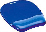 fellowes Tappetino per mouse con poggiapolso in gel Mouse pad Blu 91141 Crystal