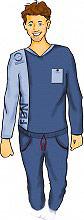 Fil di Notte DANIEL-1L BLUE Pigiama Uomo Invernale Pile Lungo a Manica Lunga Tg L Blu DANIEL-1