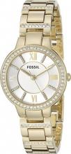 Fossil Orologio Donna Acciaio color Oro Analogico al Quarzo con Cinturino ES3283
