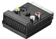 Techly SCART Adapter INOUT Connettore video SCART (21-pin) Maschio Femmina
