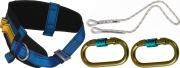 iRudek Cinturone di Sicurezza Imbracatura con Corda e Moschettone P1 Plus
