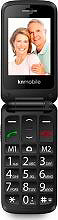 Kn Mobile K200 Telefono Cellulare Dual SIM Tasti grandi Nero - Senior Phone
