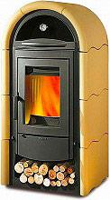 Nordica Extraflame 7113438 Stufa a legna con forno 9 kW Ceramica Sabbia Stefany Forno
