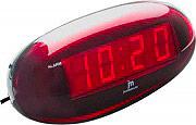 JM JE-5102R Sveglia Digitale con Display colore Nero  Rosso