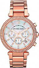 Michael Kors MK5491 Orologio Donna Acciaio color Oro Rosa Rosso Analogico Quarzo Metallo 5491