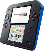 "Nintendo Console 2DS 3.53"" LCD Touchscreen Wi-Fi NeroBlu + Mario Kart 7 2205049"