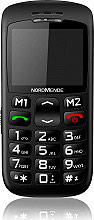 Nordmende BIG200S Telefono Cellulare Tasti grandi SOS Base di Ricarica Nero