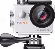 One Gear FUN720PWH Action Cam HD 5 Mpx 30 fps Impermeabile 120° Wide Bianco  Fun