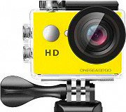 One Gear FUN720YL Action Cam HD 5 Mpx 30 fps Impermeabile 120° Wide Gialla  Fun