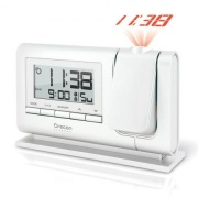 Oregon Scientific Orologio Sveglia Digitale Proiezione Ora Snooze Bianco RM308P