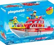 playmobil 70147 Barca Dei Vigili Del Fuoco