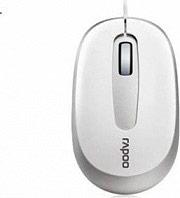 RAPOO Mouse Ottico Usb con Filo PC 3 tasti USB Bianco 13704 N 3200 WH