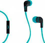 Sbs TEFLAT2INEARB Cuffie Stereo Auricolari con Filo Microfono Jack 3.5 mm Blu