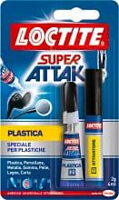 Loctite 357798 Adesivo instantaneo bicomponente plastica Super Attak 2g+4 ml