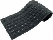 Techly IDATA KB-R109L Tastiera USB Flessibile in Silicone USBPS2 colore Nero
