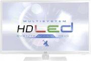 "TREVI TV LED 24"" HD Ready DVB-TT2S2 CI+ Hotel USB VGA Bianco LTV 2401 SAT ITA"