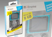 Xtreme 27702B Lettore Mp3Mp4 8 Gb MicroSD MP3WMAAMVAVI Ricaricabile