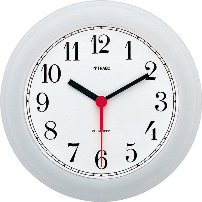 TRABO Orologio da Parete ø 20.5 cm Cassa in ABS colore Bianco - Vela - FP001B
