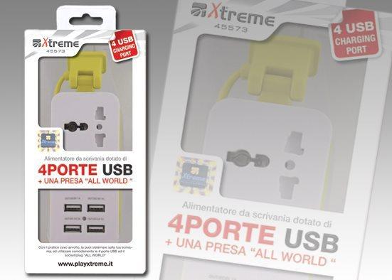 Xtreme Hub Multipresa USB Ciabatta con presa internazionale 5573