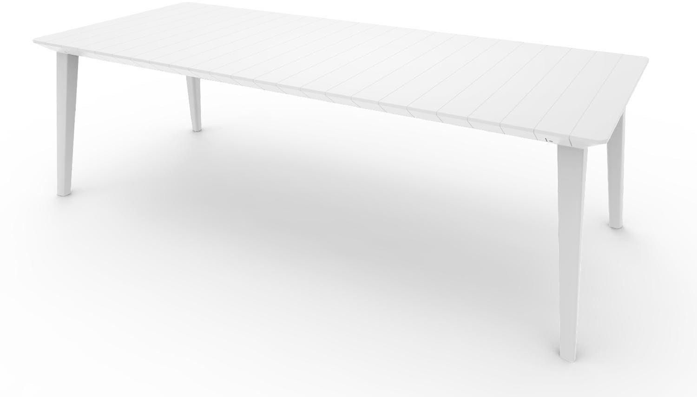 Tavoli Da Giardino In Plastica Allungabili.Dettagli Su Allibert Tavolo Da Giardino Allungabile In Resina 160 235x98x74 Bianco Lima