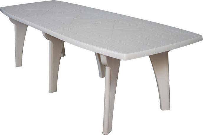 Prezzi Tavoli Da Giardino In Plastica.Tavolo Da Giardino In Plastica Rettangolare 250x90x72h Bianco