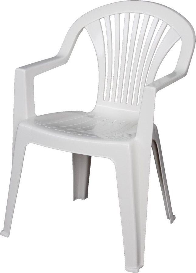 Sedie Plastica Per Esterno.Dettagli Su Sedia Da Giardino Esterno Plastica Con Braccioli 57x58x82 H Bianco Areta Lido