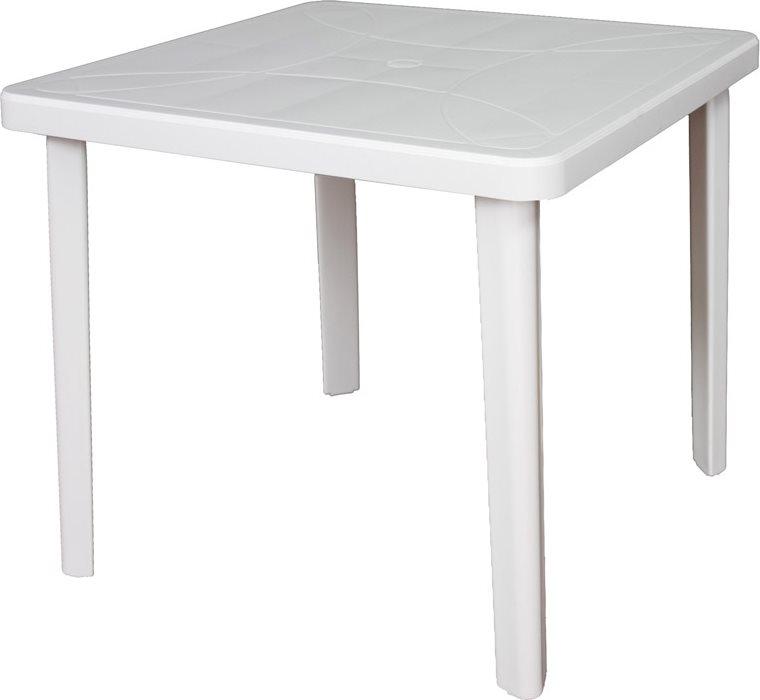 Tavolo In Pvc Da Giardino.Tavolo Da Giardino In Plastica Tavolino Quadrato 80x80x72 H Bianco