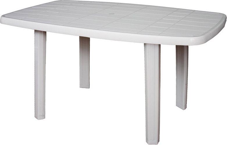 Tavolo Di Plastica Da Esterno.Tavolo Da Giardino In Plastica Rettangolare 140x80x72h Bianco