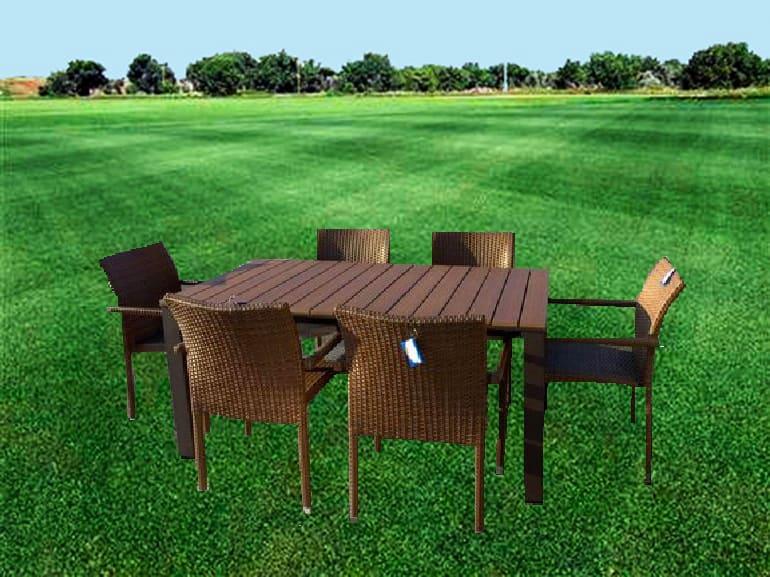Set Tavolo da Giardino Allungabile 160/200/240 + 6 Sedie ...
