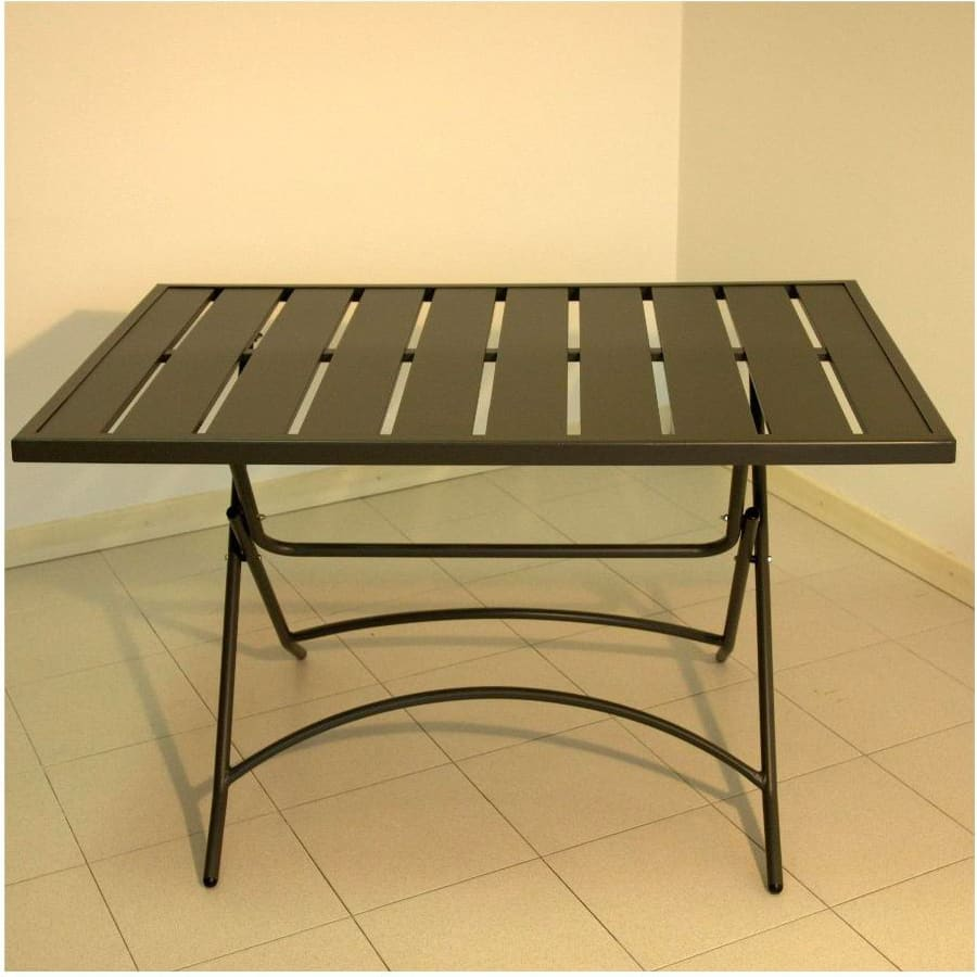 Tavolo da giardino in ferro pieghevole 120x80 cm grigio amicasa smarty ebay - Tavolo giardino pieghevole ...