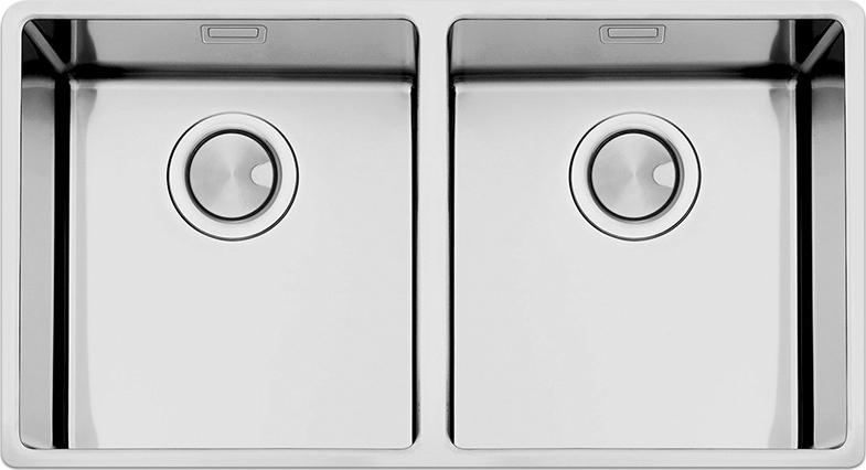 Lavello Cucina 2 Vasche Acciaio Inox Apell 80 cm Ferrara Plus ...