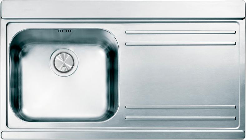 Lavello Cucina 90 Cm.Lavello Cucina 1 Vasca Incasso Acciaio Inox Apell 90 Cm Iris