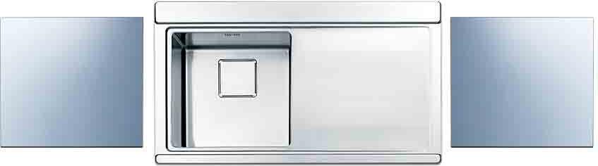 Lavello Cucina 90 Cm.Lavello Cucina 1 Vasca Incasso Acciaio Inox Apell 90 Cm