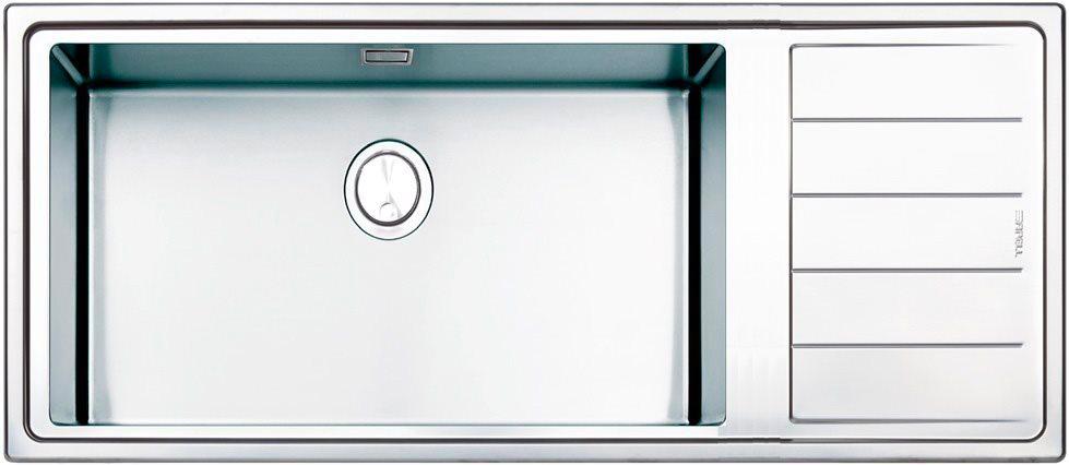 Dettagli su Lavello Cucina 1 Vasca Incasso Acciaio Inox Apell 116 cm  LNPG116 1ILBC