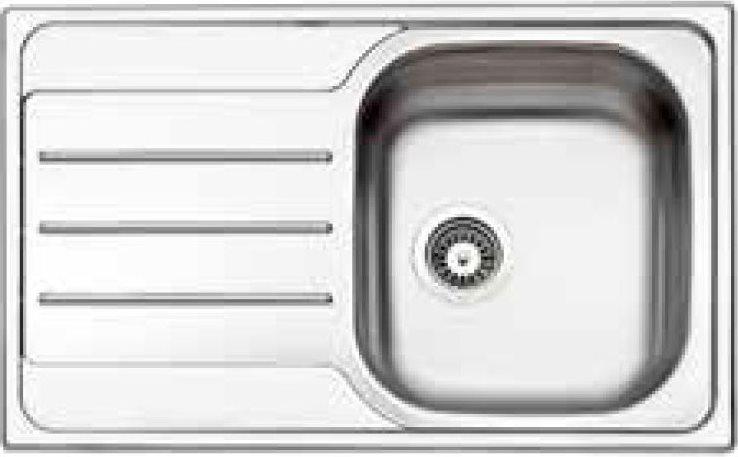 Lavello Cucina 1 Vasca Incasso Acciaio Inox Apell 79 cm OH791ILPC   eBay