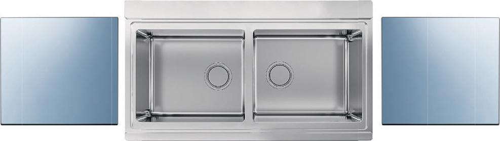 Lavello Cucina 90 Cm.Lavello Cucina 2 Vasche Incasso Acciaio Inox Apell 90 Cm Sfera
