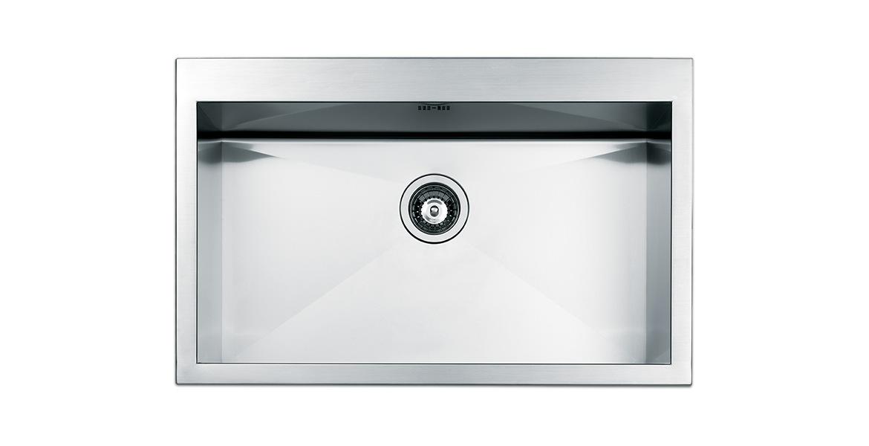 Lavello Cucina 1 Vasca Incasso Acciaio Inox Apell 72 cm Amalthea ...