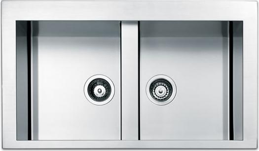Dettagli su Lavello Cucina 2 Vasche Incasso Acciaio Inox Apell 86 cm  Amalthea SQ862FSC