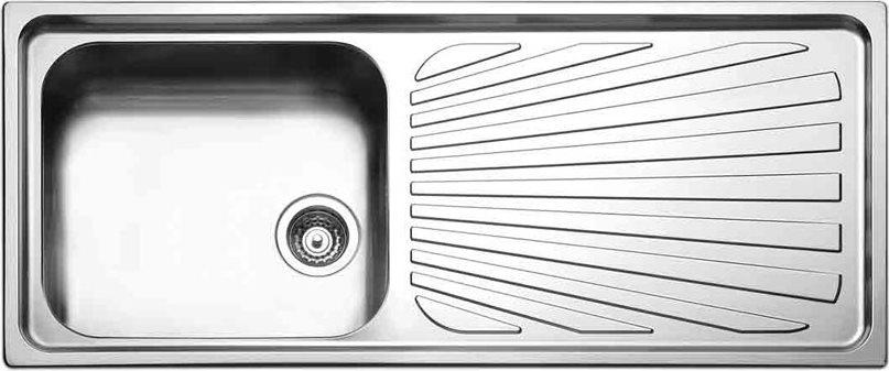 Lavello Cucina 1 Vasca Incasso Acciaio Inox Apell 116 cm TO116 1IRBC ...