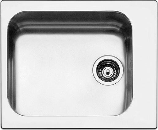 Lavello Cucina 1 Vasca Incasso Acciaio Inox Apell 58 cm Antigraffio ...