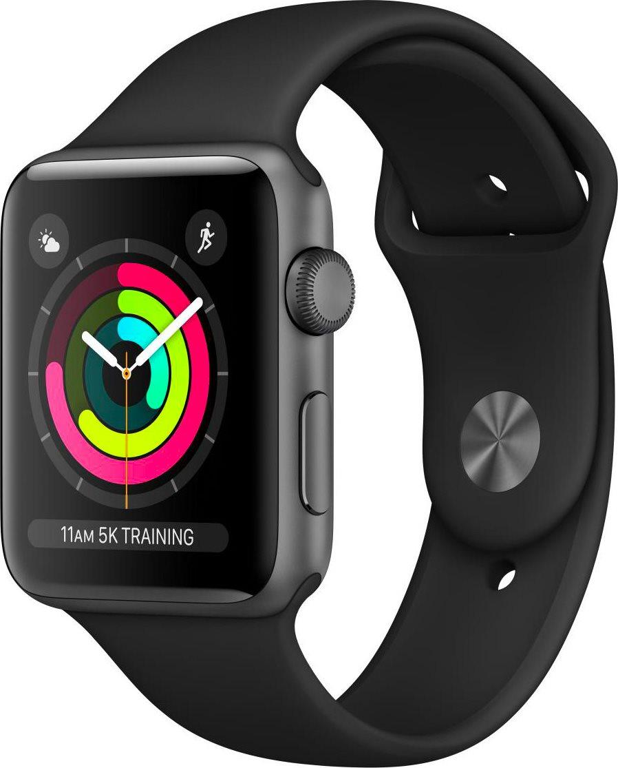 miglior servizio e50a6 d5d74 Dettagli su Apple Watch Series 3 42mm Orologio Cardiofrequenzimetro Fitness  Wifi MQL12QL/A