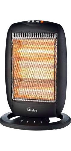 Stufa elettrica stufetta alogena ardes 1600w oscillante halo 16 455b ebay - Stufa alogena basso consumo ...